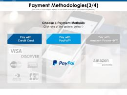 Payment Methodologies Credit Card Ppt Powerpoint Presentation Professional Topics