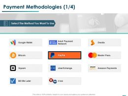 Payment Methodologies Management Ppt Powerpoint Presentation Pictures Graphics
