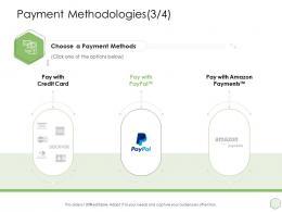 Payment Methodologies Methods Ppt Powerpoint Presentation Techonology Skills