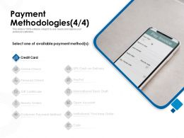 Payment Methodologies One Available Ppt Powerpoint Presentation Infographic Template