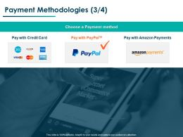 Payment Methodologies Strategy Ppt Powerpoint Presentation Professional