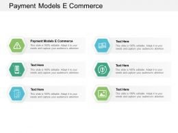 Payment Models E Commerce Ppt Powerpoint Presentation Gallery Grid Cpb