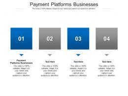 Payment Platforms Businesses Ppt Powerpoint Presentation Slides Show Cpb