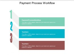 Payment Process Workflow Ppt Powerpoint Presentation Infographic Template Slideshow Cpb