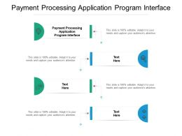 Payment Processing Application Program Interface Ppt Powerpoint Presentation Pictures Examples Cpb