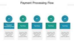 Payment Processing Flow Ppt Powerpoint Presentation Pictures Guide Cpb