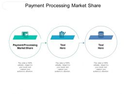 Payment Processing Market Share Ppt Powerpoint Presentation Gallery Slideshow Cpb