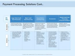 Payment Processing Solutions Cont Digital Payment Online Solution Ppt Professional