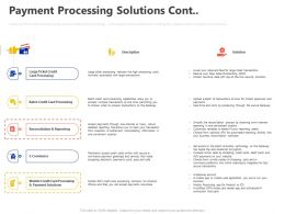 Payment Processing Solutions Cont Ppt Powerpoint Presentation Inspiration Graphics Template
