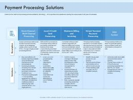 Payment Processing Solutions Digital Payment Online Solution Ppt Infographics