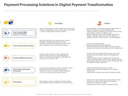 Payment Processing Solutions In Digital Payment Transformation Ppt Powerpoint Presentation File