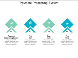 Payment Processing System Ppt Powerpoint Presentation Model Diagrams Cpb