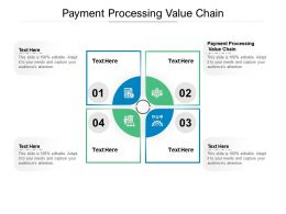 Payment Processing Value Chain Ppt Powerpoint Presentation Pictures Outline Cpb