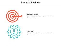Payment Products Ppt Powerpoint Presentation Infographics Deck Cpb