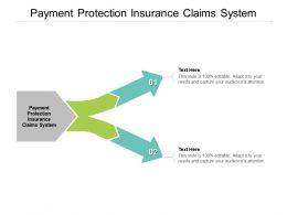 Payment Protection Insurance Claims System Ppt Powerpoint Presentation Gallery Graphics Template Cpb