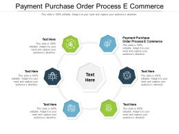 Payment Purchase Order Process E Commerce Ppt Powerpoint Presentation Layouts Design Ideas Cpb