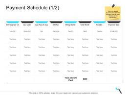Payment Schedule Electricity Business Operations Management Ppt Guidelines