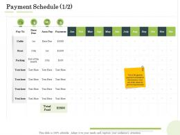 Payment Schedule Parking Administration Management Ppt Pictures