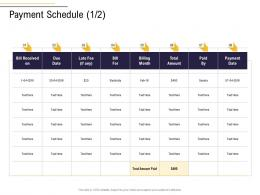 Payment Schedule Payment Business Process Analysis Ppt Inspiration