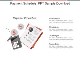 Payment Schedule Ppt Sample Download