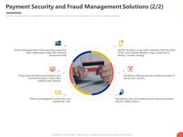 Payment Security And Fraud Management Solutions Development Ppt Powerpoint Presentation Gallery