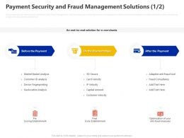 Payment Security And Fraud Management Solutions Ppt Powerpoint Presentation Pictures Graphic