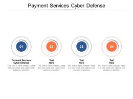 Payment Services Cyber Defense Ppt Powerpoint Presentation Styles Diagrams Cpb