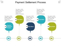 Payment Settlement Process Ppt Powerpoint Presentation Styles Templates Cpb
