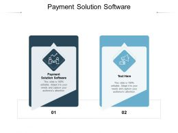 Payment Solution Software Ppt Powerpoint Presentation Slides Backgrounds Cpb