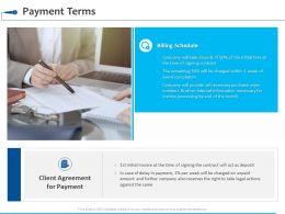 Payment Terms Agreement Ppt Powerpoint Presentation Summary Layout Ideas