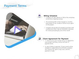 Payment Terms Billing Schedule Ppt Powerpoint Presentation Gallery Example