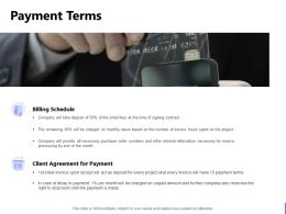 Payment Terms Billing Schedule Ppt Powerpoint Presentation Infographic