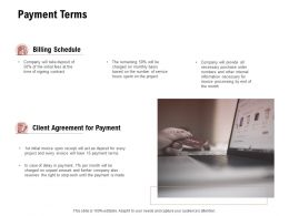 Payment Terms Client Agreement Finance Ppt Powerpoint Presentation Show Brochure