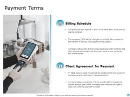 Payment Terms Client Agreement Ppt Powerpoint Presentation Gallery Outfit