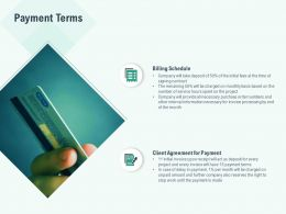 Payment Terms Client Agreement Ppt Powerpoint Presentation Pictures