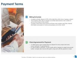 Payment Terms Client Agreement Ppt Powerpoint Presentation Show Outfit