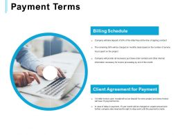Payment Terms Client Ppt Powerpoint Presentation Model Rules
