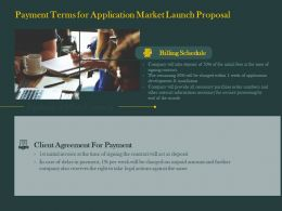 Payment Terms For Application Market Launch Proposal Ppt Powerpoint Styles Design