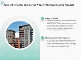 Payment Terms For Commercial Property Window Cleaning Proposal Ppt Powerpoint Presentation
