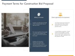 Payment Terms For Construction Bid Proposal Ppt Powerpoint Presentation Summary Backgrounds