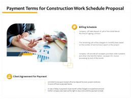 Payment Terms For Construction Work Schedule Proposal Ppt Professional Example Topics
