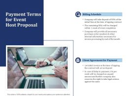 Payment Terms For Event Host Proposal Ppt Powerpoint Presentation Outline