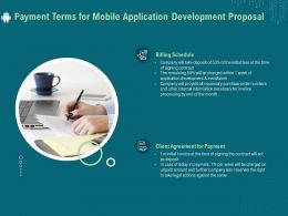 Payment Terms For Mobile Application Development Proposal Ppt File Example Introduction