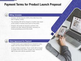 Payment Terms For Product Launch Proposal Ppt Powerpoint Presentation Summary Smartart
