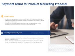Payment Terms For Product Marketing Proposal Ppt Powerpoint Presentation Image