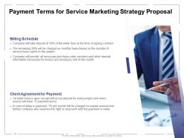 Payment Terms For Service Marketing Strategy Proposal Ppt Powerpoint Presentation Ideas Samples