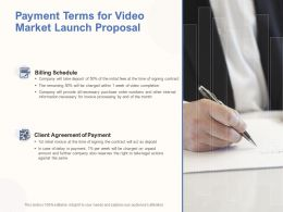 Payment Terms For Video Market Launch Proposal Ppt Powerpoint Layouts