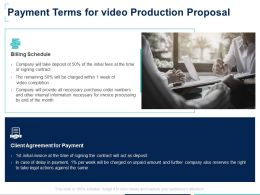 Payment Terms For Video Production Proposal Payment Ppt Powerpoint Slides