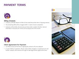 Payment Terms Ppt Powerpoint Presentation Infographic Template Template