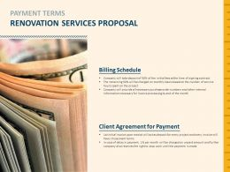 Payment Terms Renovation Services Proposal Payment Ppt Powerpoint Presentation Slides